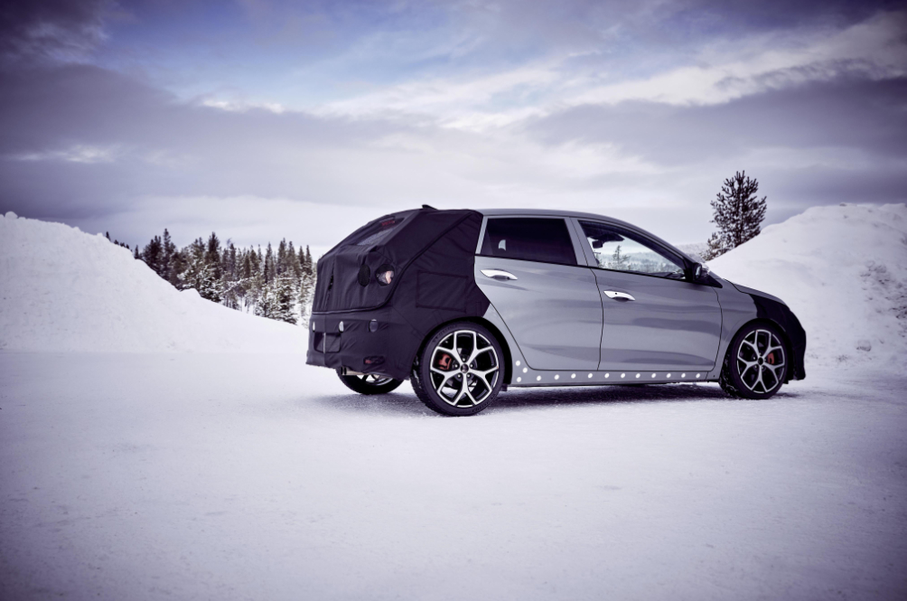 Hyundai i20 N Prototype Attends An Ice Breaker