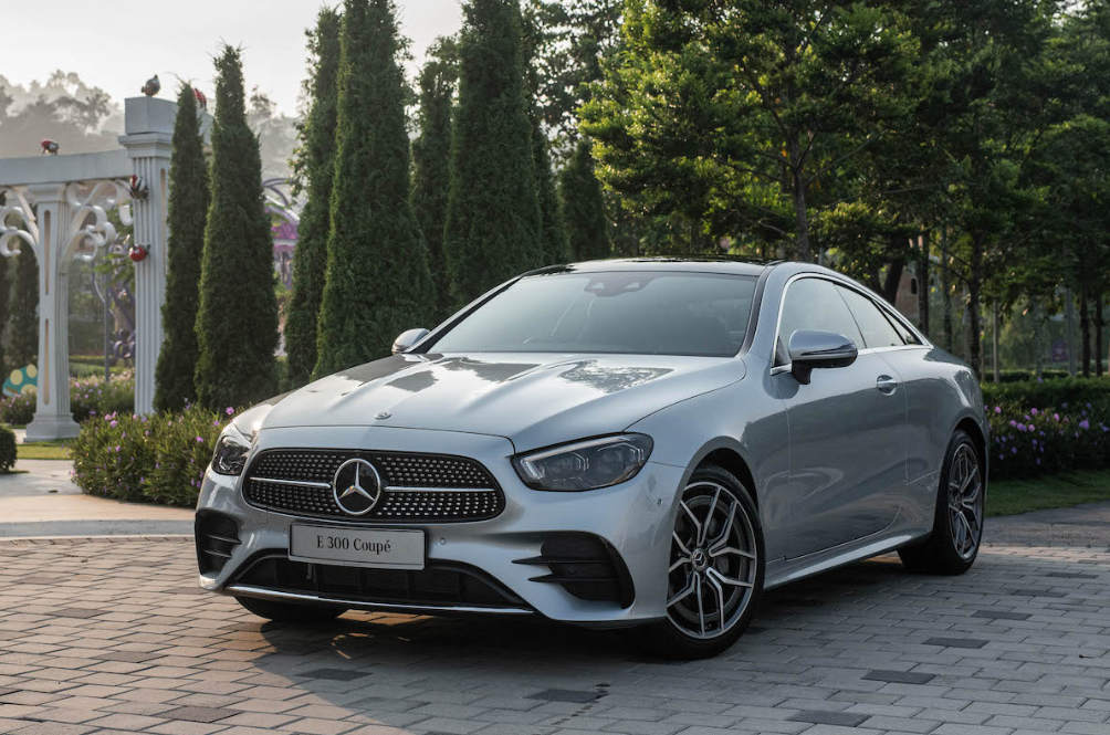 The Mercedes-Benz E-Class Coupe Is The Best Vehicle To Show Off Your New Promotion