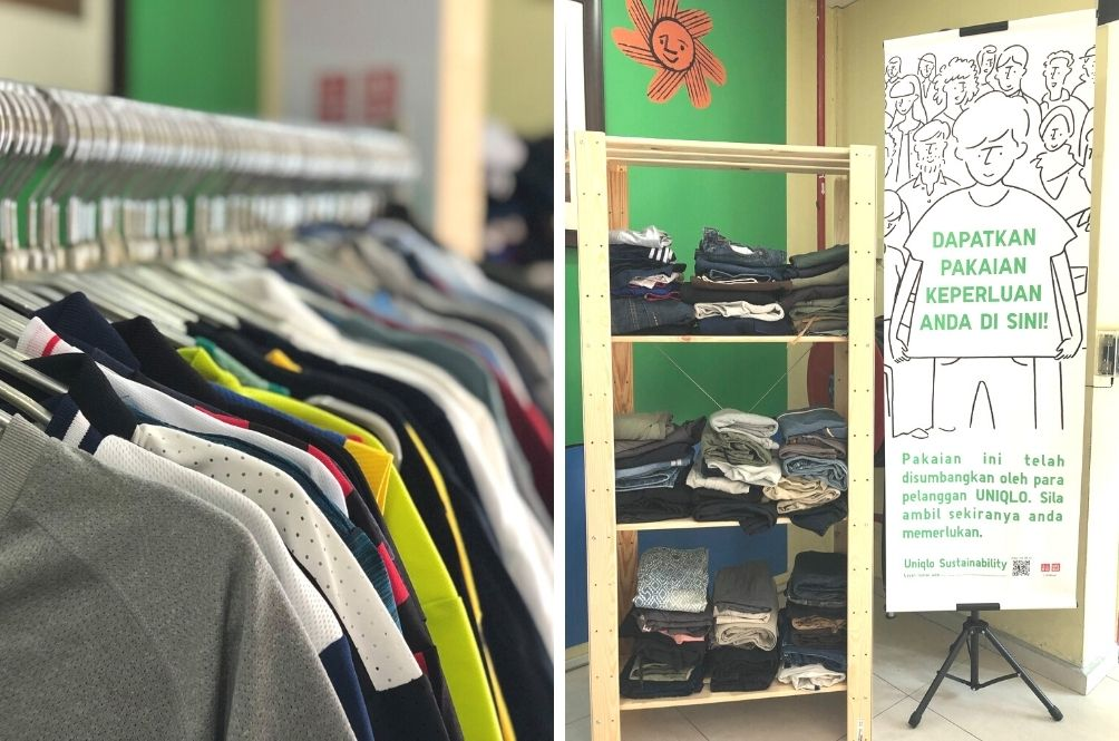 Free Clothes For The Needy; UNIQLO Malaysia Sets Up Clothing Corner At Homeless Transit Centre