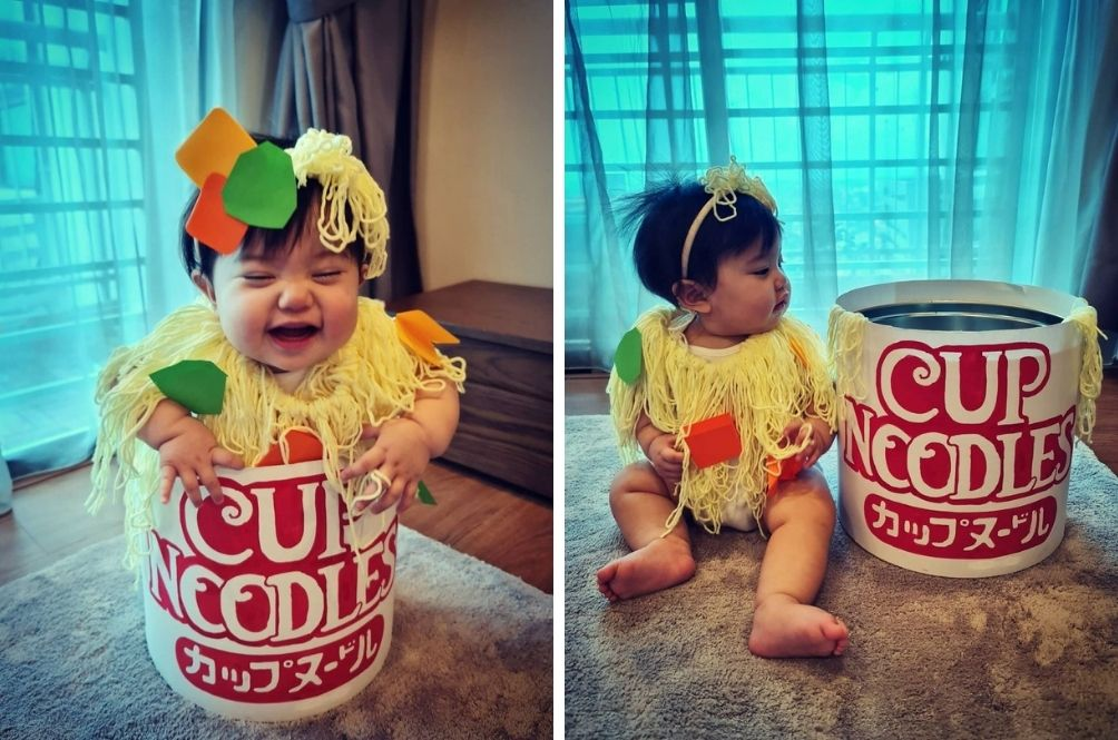 This 8-Month-Old's DIY Cup Noodles Halloween Costume Is The Cutest!