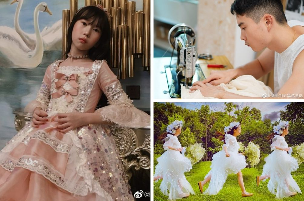 Self-Taught Tailor In China Sews 100 Dresses For His Daughter And They're Amazing
