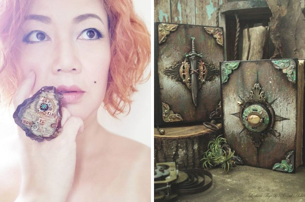 M'sian Artist Makes Unique Journals, Jewellery From Rusted Nails, Clock Gears And Other Knickknacks