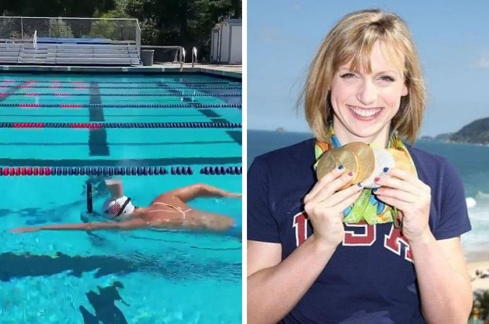 US Swimming Legend Impresses Netizens After Swimming With Full Glass Of Milk Balanced On Head