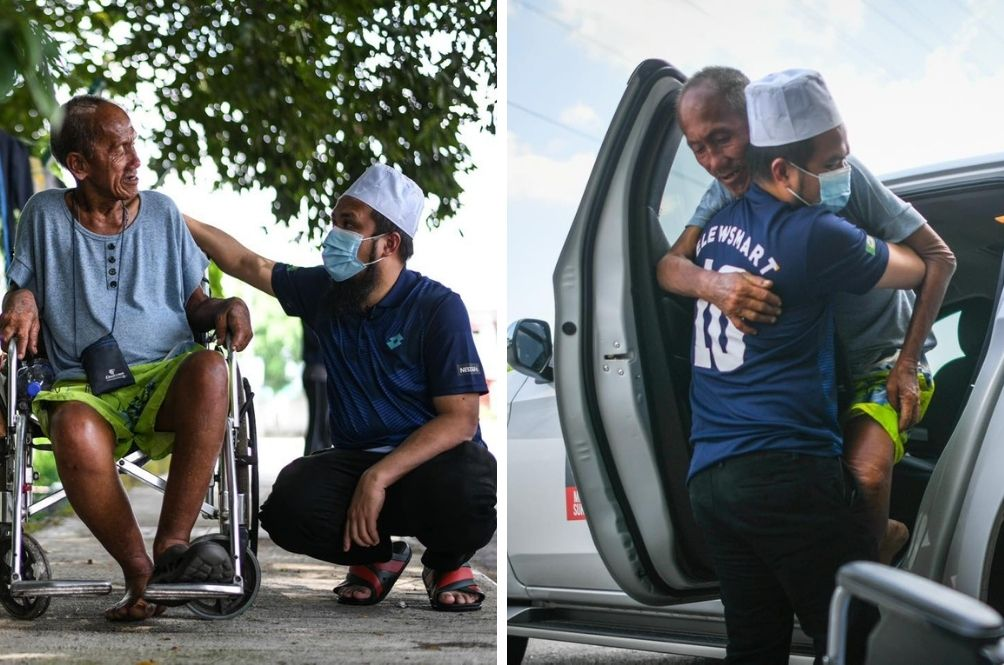 Homeless, Disabled Senior Citizen Gets Proper Place To Stay Thanks To Ustaz Ebit Lew