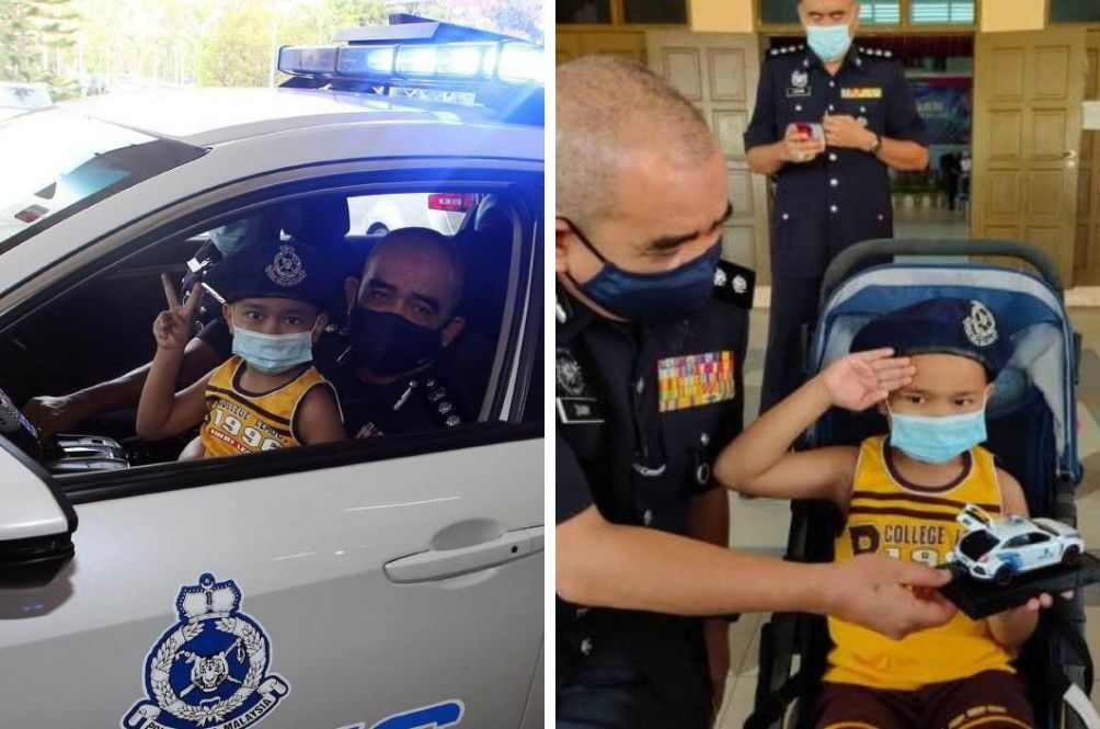 The Cutest Cop: Police Fulfil Wish Of 6-Year-Old Leukemia Patient