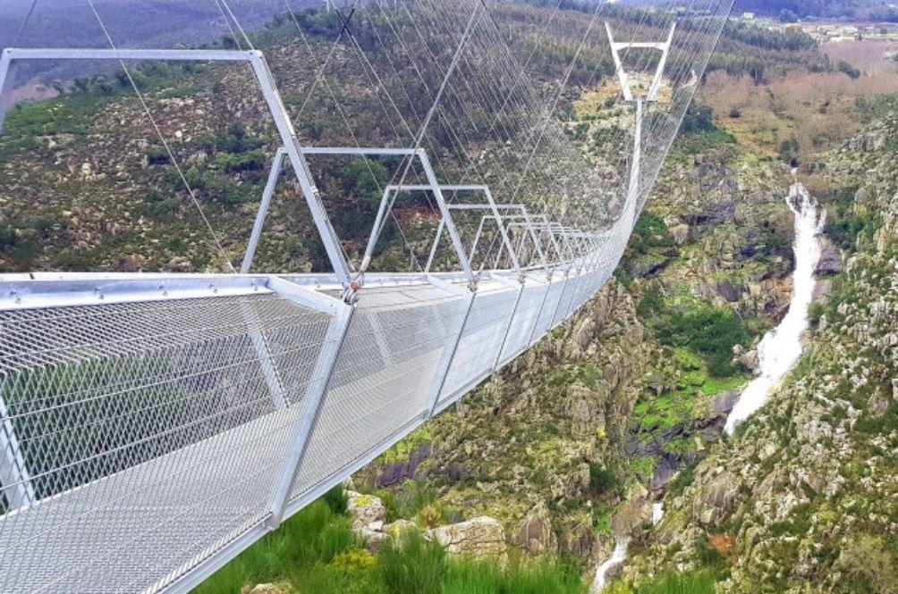 World's Longest Suspended Pedestrian Bridge Opens In Portugal