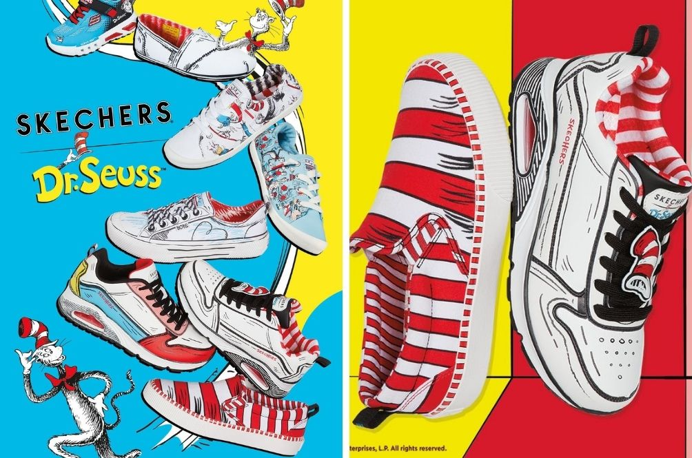 The Dr.Seuss x Skechers Collection Featuring 'The Cat In The Hat' Is Out Now And It's Adorable