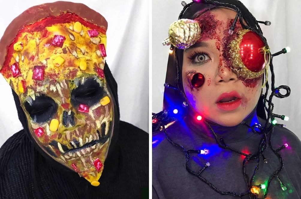 Creepy But Cool, This M'sian Woman Creates All Sorts Of Looks Using Special Effects Makeup For Fun