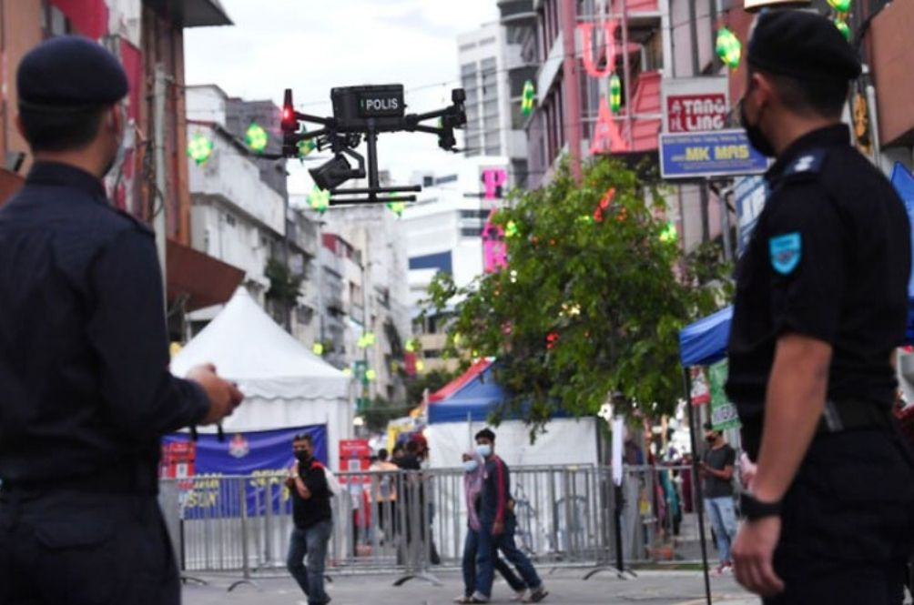 Terengganu Cops Are Using Drones To Scan Body Temperatures