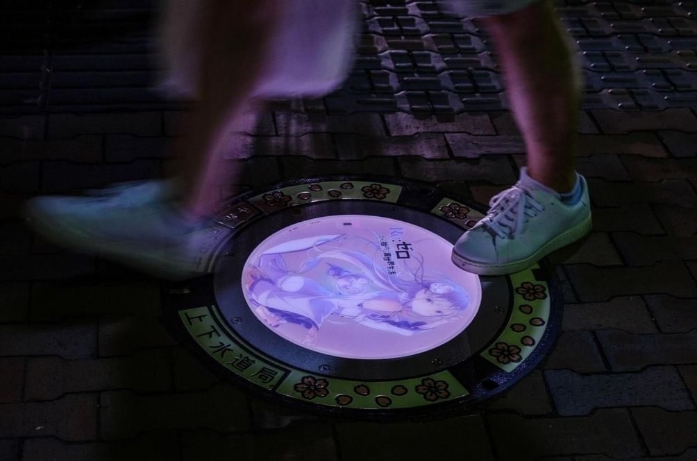 This Japanese City's Manholes Are Decorated With Anime Characters And Have Another Surprise Feature