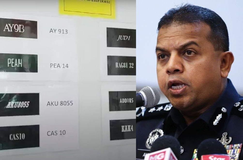 Johor Police To Go After Those With Fancy Number Plates, To Start With Cops First