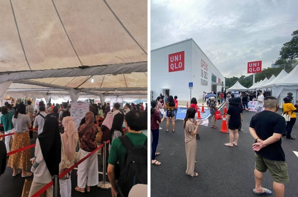 Authorities Temporarily Close Uniqlo's Standalone Roadside Outlet After Crowds Throng Opening