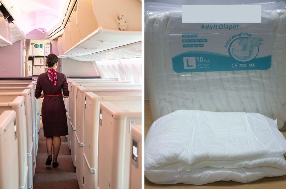 Chinese Officials Recommend Flight Attendants Wear Diapers To Avoid Contracting COVID-19