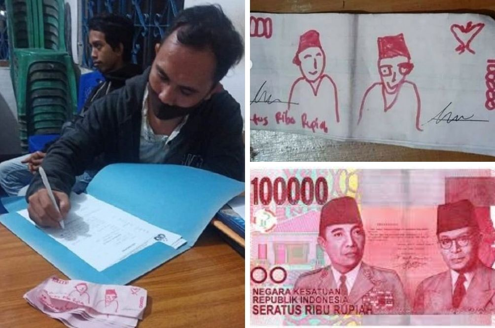 Indonesian Man Duped By Buyer Who Paid Him Using Hand-Drawn Money