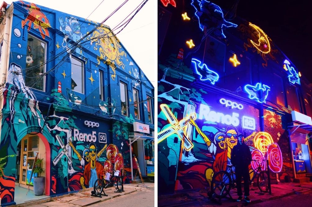 Check Out This Cool Mural In The Heart Of KL That Looks Amazing In The Morning And Lights Up At Night!
