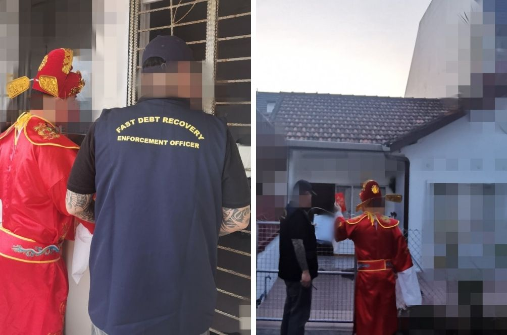 Singapore Debt Collection Company Dresses Employee As God of Wealth To Pay Visit To Debtors