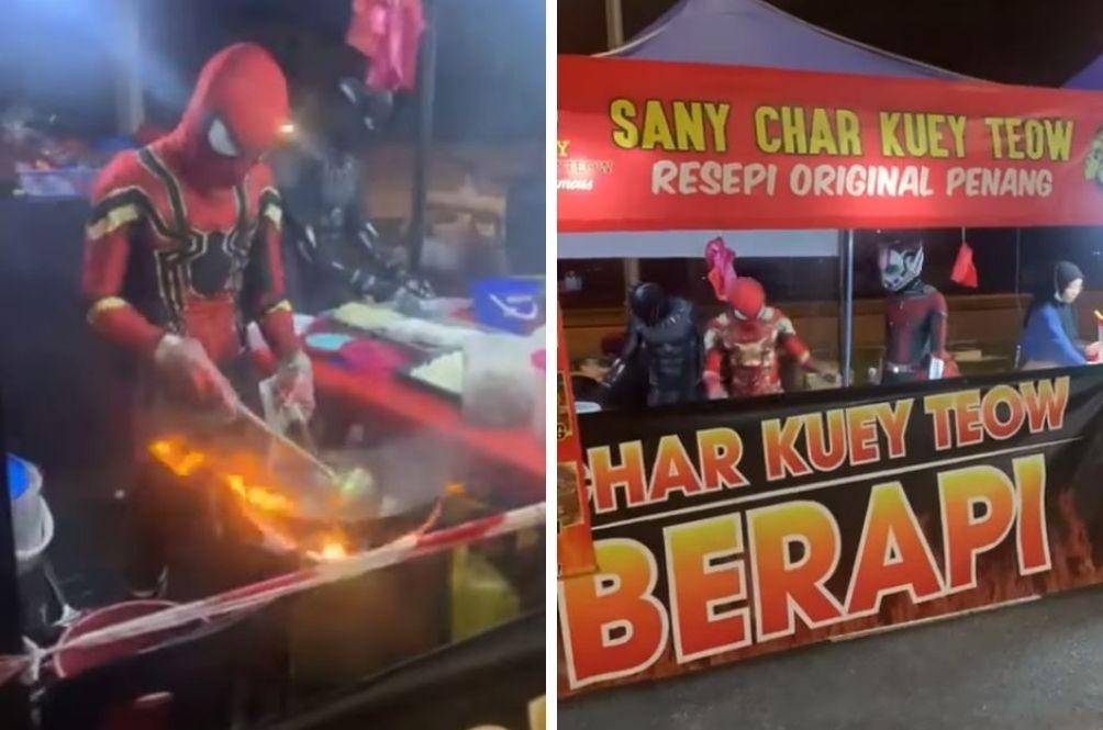 We Love It 3000! The Avengers Are Serving Some Fiery 'Char Kuey Teow' In Pasir Gudang