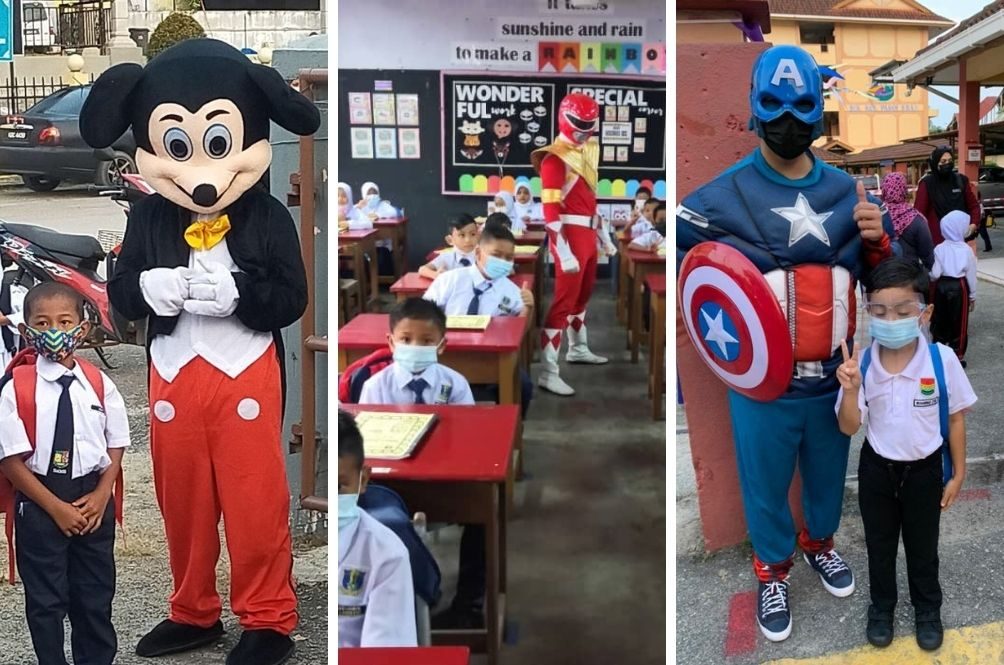 Superheroes And Other Famous Friends Greet Kids On Their First Day At School