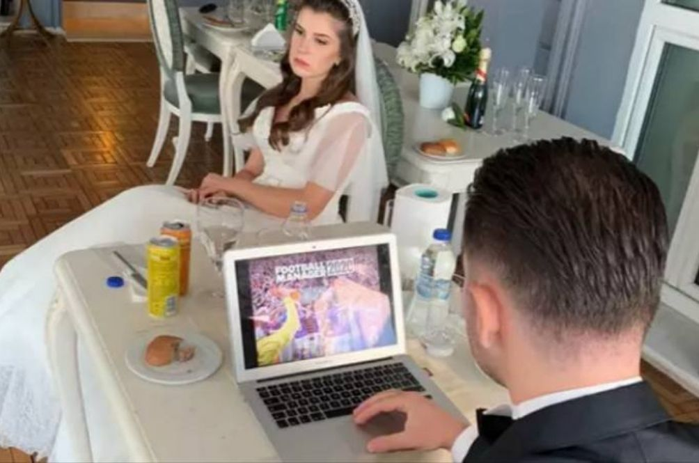Man Plays 'Football Manager' On Laptop During His Own Wedding