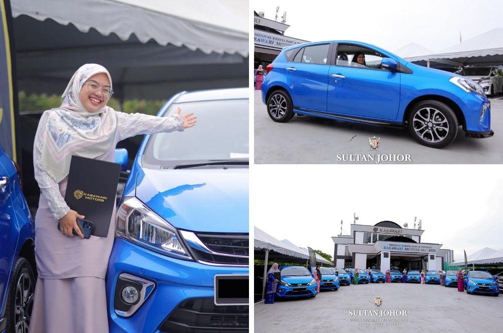 A Token Of Appreciation, Johor Sultan Gifts 10 Perodua Myvi Cars To Royal Ward Nurses