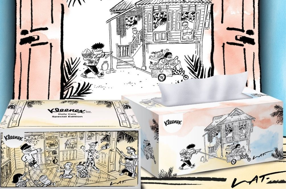 Datuk Lat's Iconic Illustrations Featured On Special Edition Kleenex Tissue Boxes