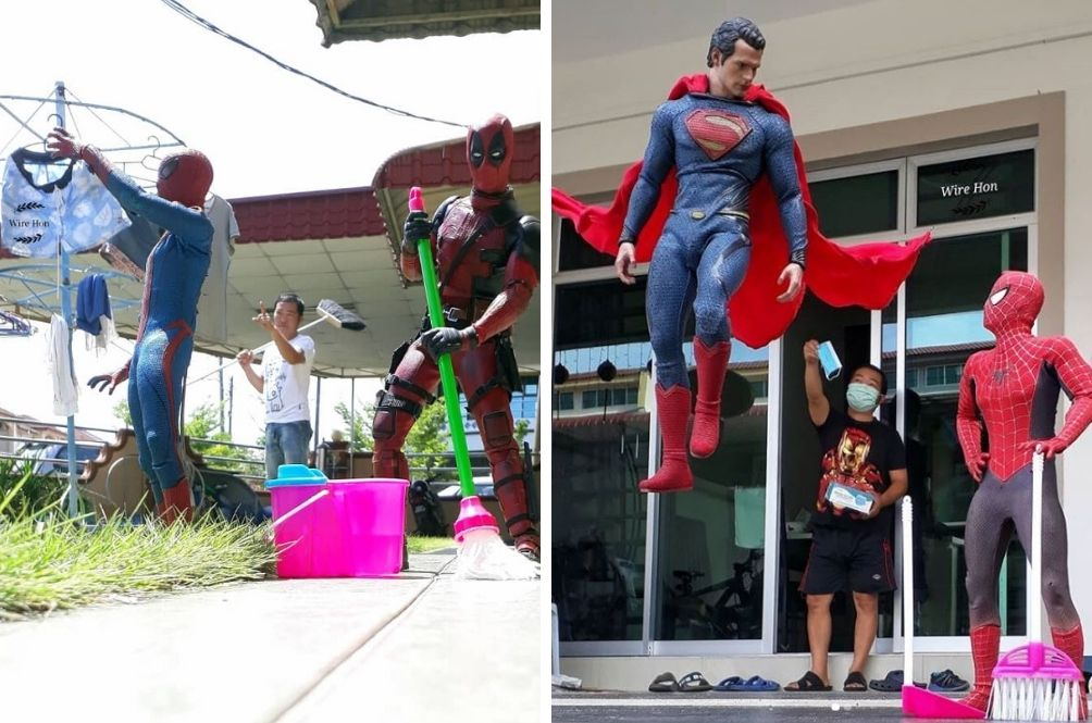 Perak Man Uses Forced Perspective To Take Hillarious Photos With His Superhero