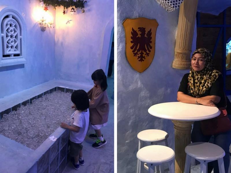 Orang dewasa mahupun kanak-kanak boleh bermain dengan ais di Ice Cafe.
