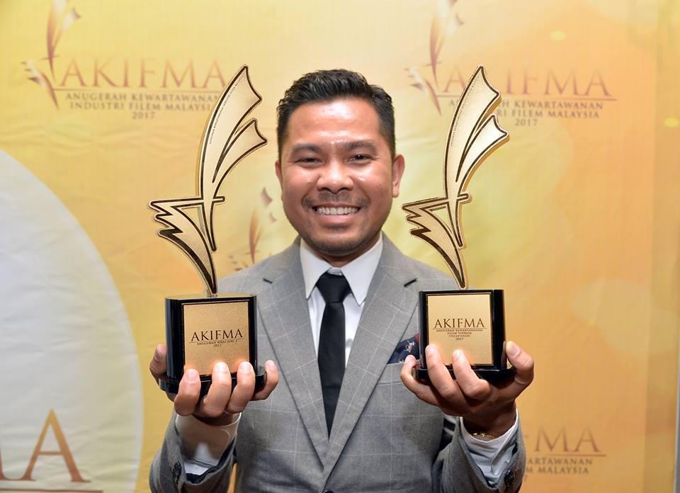 Syazwan Zakariah membawa pulang dua anugerah untuk kategori Televisyen dan Anugerah Khas Juri.