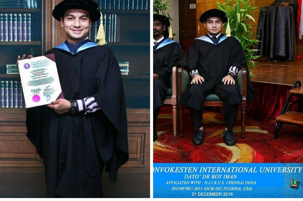 Boy Iman Dapat PhD Dipersoal Netizen, Sumber Universiti Tidak Diiktiraf Kerajaan Malaysia