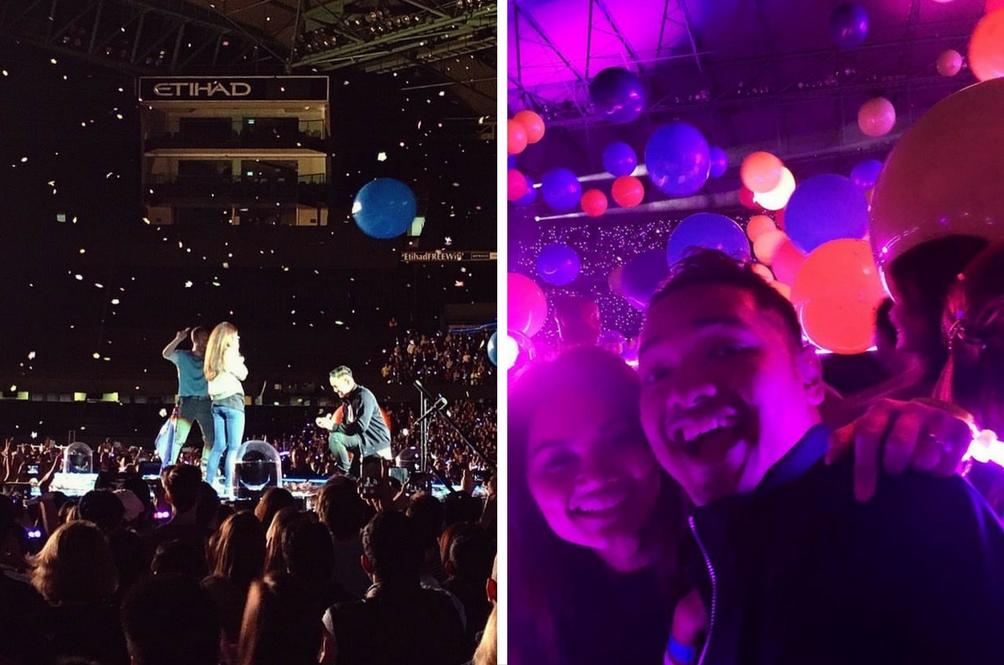 Pasangan Malaysia Sahut Cabaran Lamaran Berkahwin Atas Pentas Bersama Coldplay