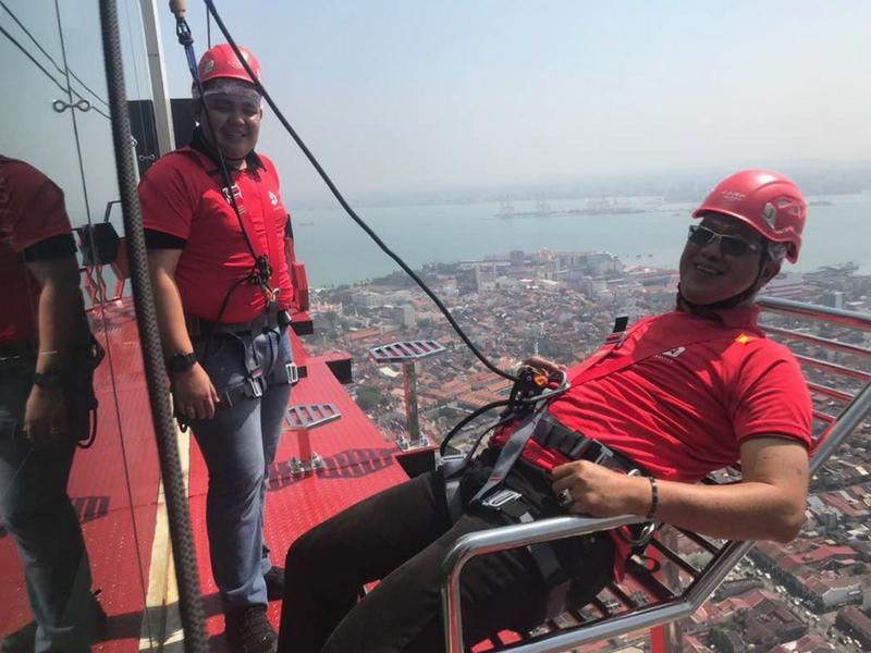 Pengunjung juga boleh duduk sambil menikmati panaroma dari udara.