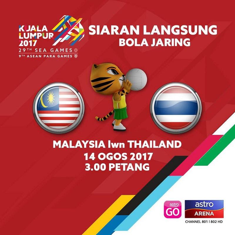 Perlawanan bola jaring antara Malaysia dengan Thailand dijangka mencuri perhatian ramai.