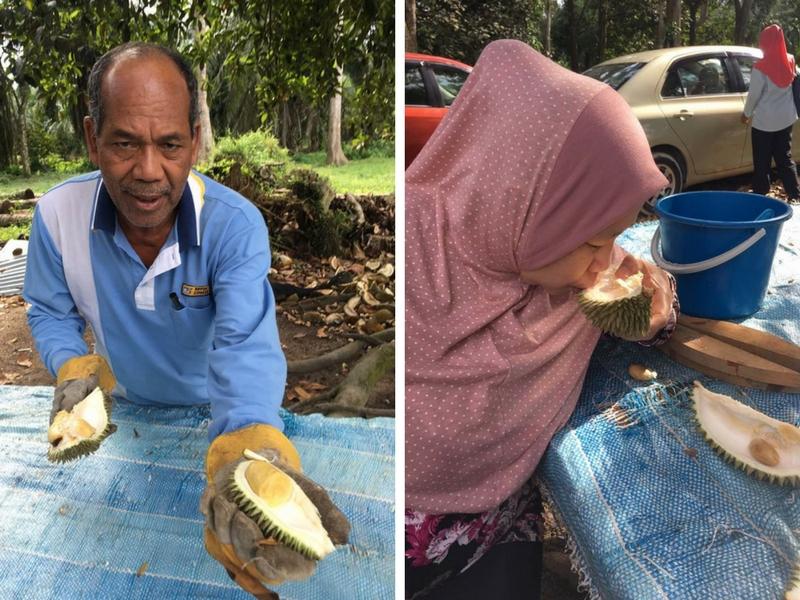 Jangan lupa petua orang dulu-dulu, lepas makan durian minum air sedikit dalam kulit durian itu.