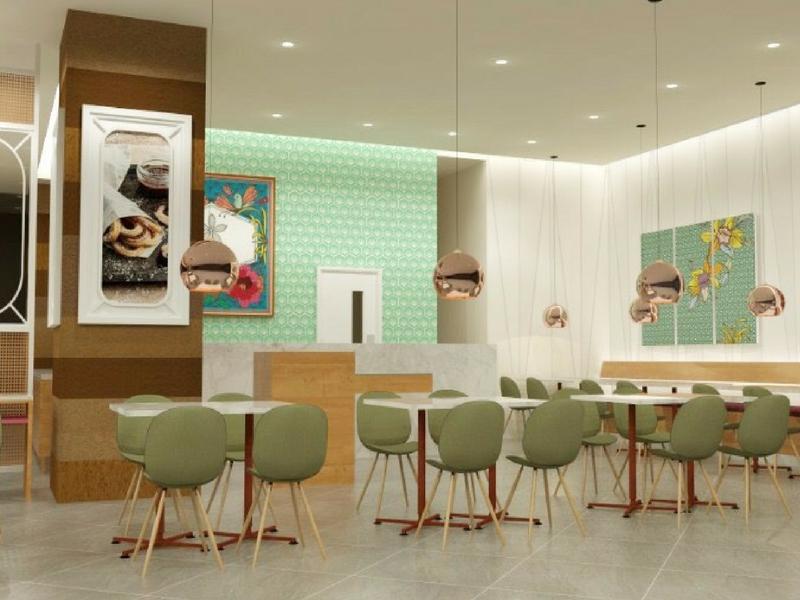 Pelanggan boleh singgah makan di situ atau 'tapau' coklat kegemaran mereka di Nayuta, Lot 10, Kuala Lumpur.