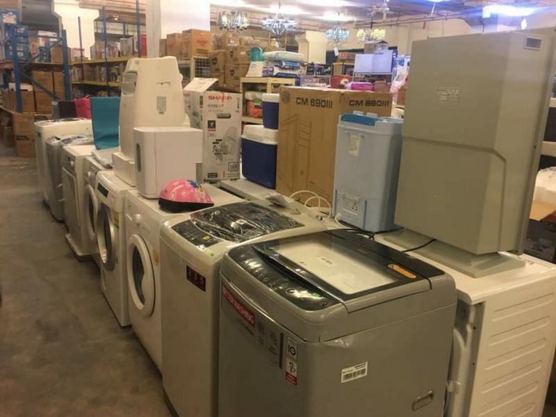 Antara barang elektrik seperti mesin basuh yang boleh dibeli pada harga lebih murah.