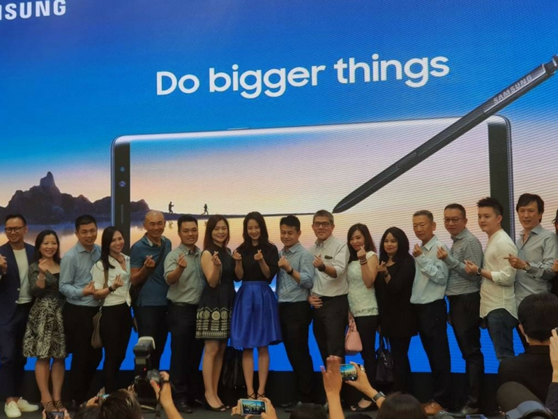 Kehadiran bintang istimewa Running Man, Song Ji-Hyo menggamatkan suasana Majlis Pelancaran Samsung Galaxy Note 8 di Kuala Lumpur, hari ini.