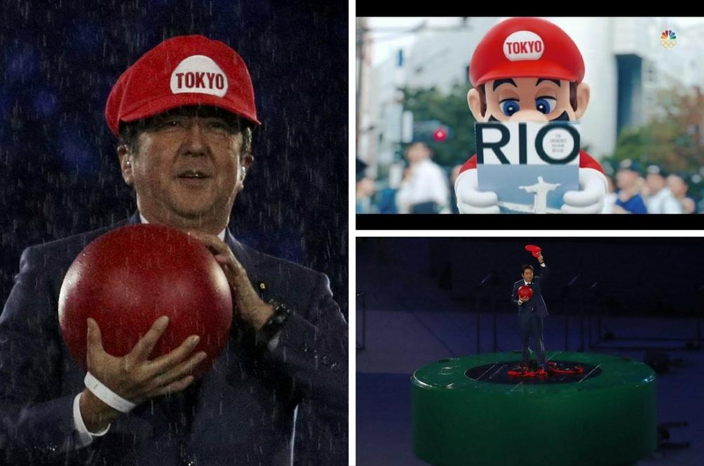 Aksi Shinzo Abe Sebagai Super Mario Curi Tumpuan