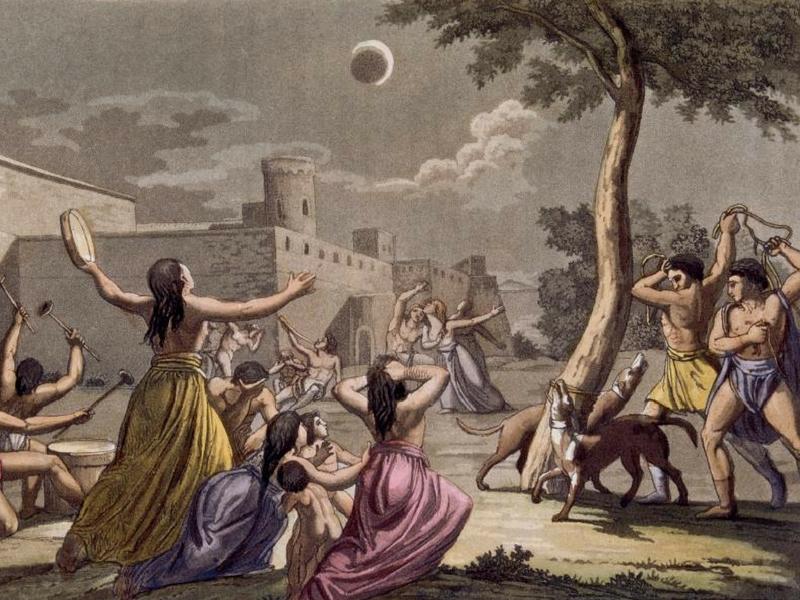 Masyarakat Inca percaya kejadian gerhana bulan adalah petanda bencana besar bakal menimpa mereka.
