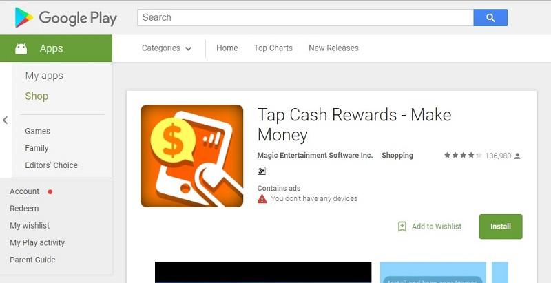 Aplikasi ini memberi kelebihan pada pengguna menebus mata ganjaran dengan wang tunai.