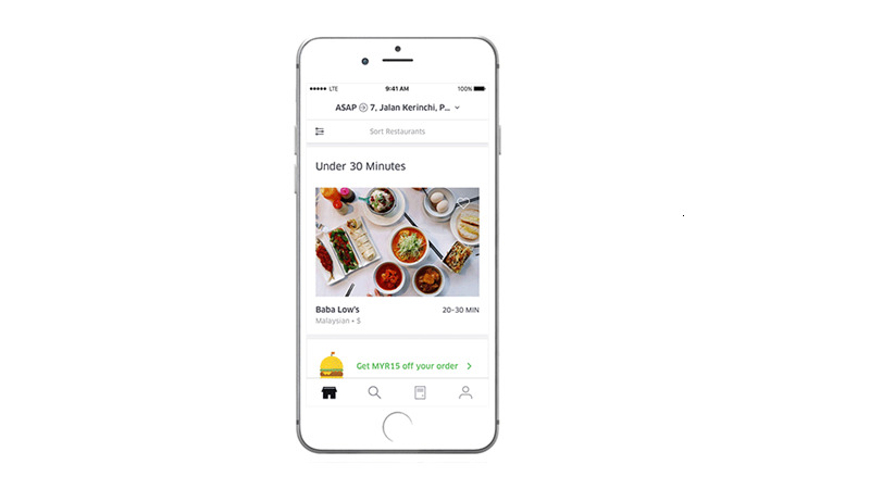 Perkhidmatan UberEATS memberikan keselesaan pada pelanggan memesan makanan kegemaran dengan cara mudah.