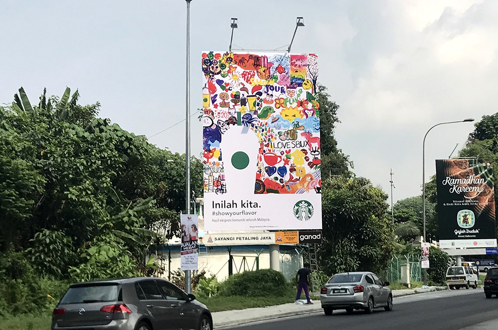 How Starbucks Malaysia Got Malaysians To Design Their New Billboards Without Them Realising It
