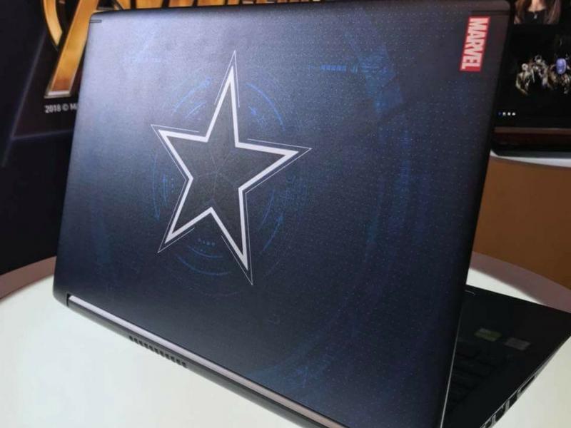 Simbol lima bintang Captain America!