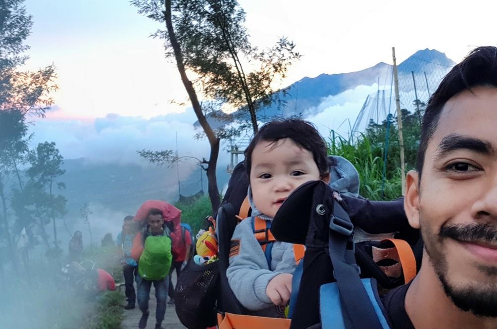 Selepas Brinchang, Bayi Ini Jelajah Gunung Merbabu Pula!