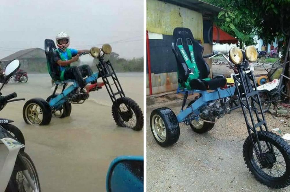 Cipta Motosikal 'Kalis' Banjir Hanya RM500