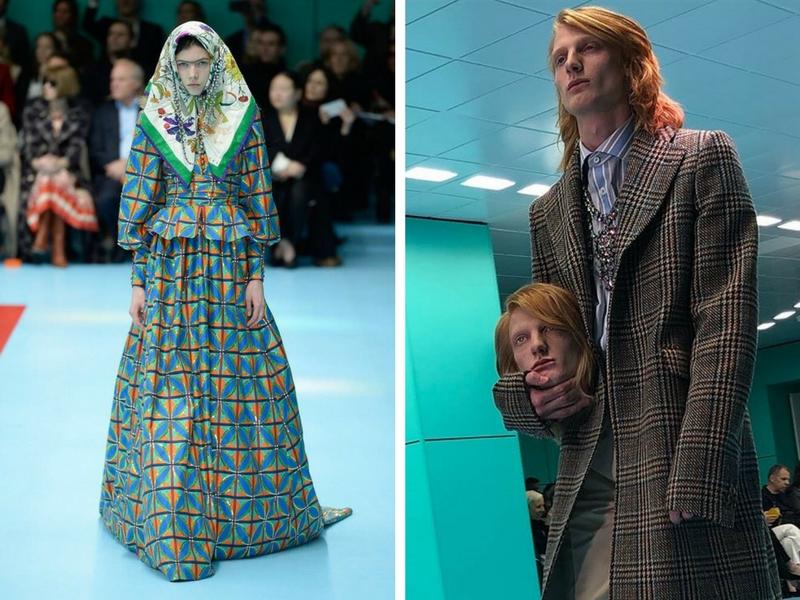 Pertunjukkan fesyen Gucci turut mendapat perhatian ramai.