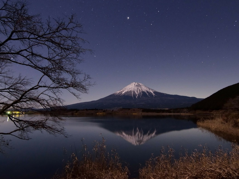 Pemandangan tasik berhampiran Gunung Kusatsu Shirane.