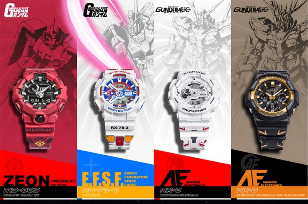 Ulang Tahun Gundam Ke-40, G-Shock Lancar 4 Koleksi Sekali Gus!