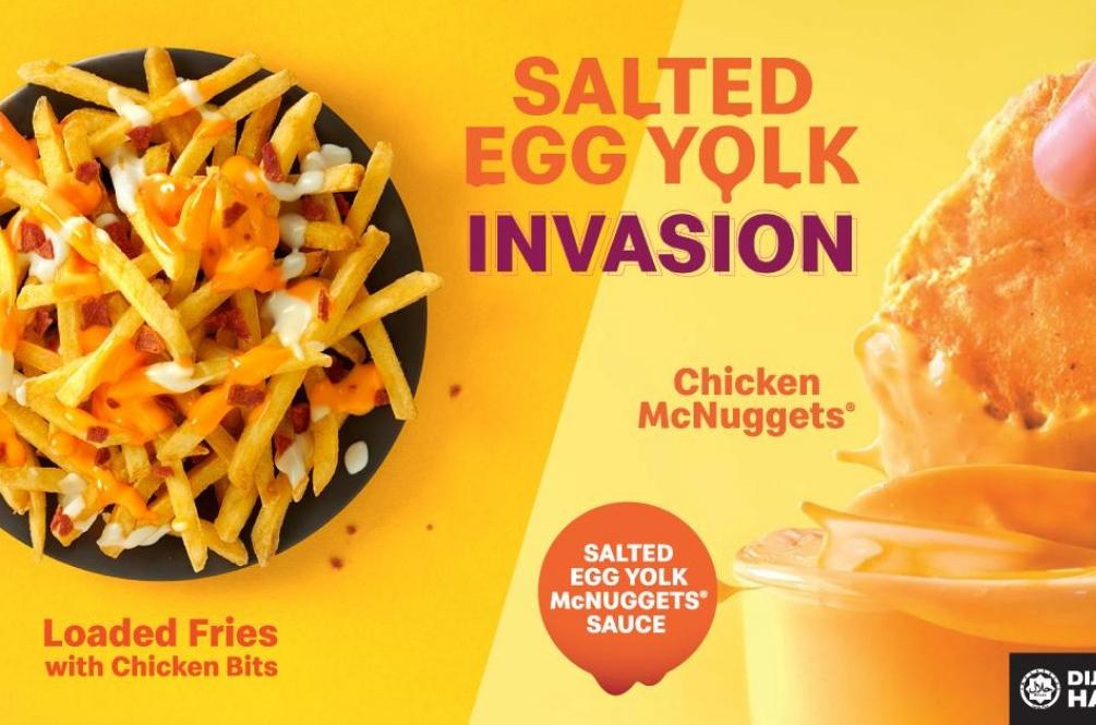 Siap Sedia Guys! McDonald's Lancar Menu Baru, Salted Egg Yolk!