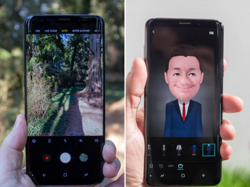 Antaramuka kamera mudah dan turut mempunyai fungsi AR Emoji jika anda menyukainya.