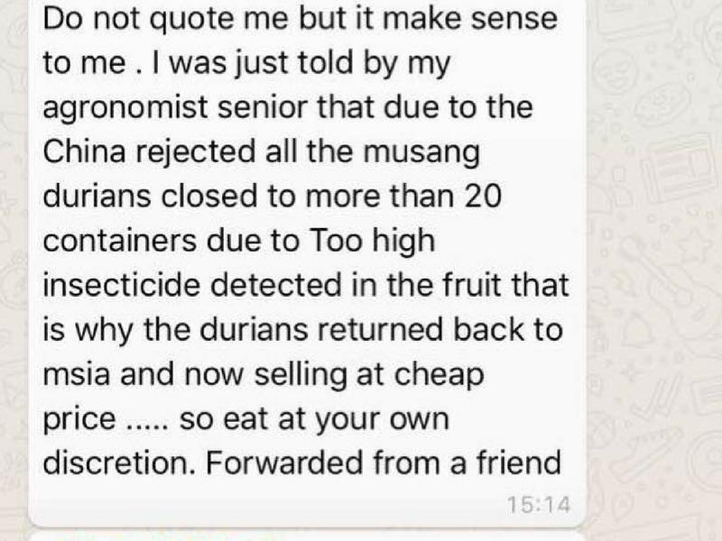 Kenyataan palsu yang disebarkan menerusi aplikasi WhatsApp
